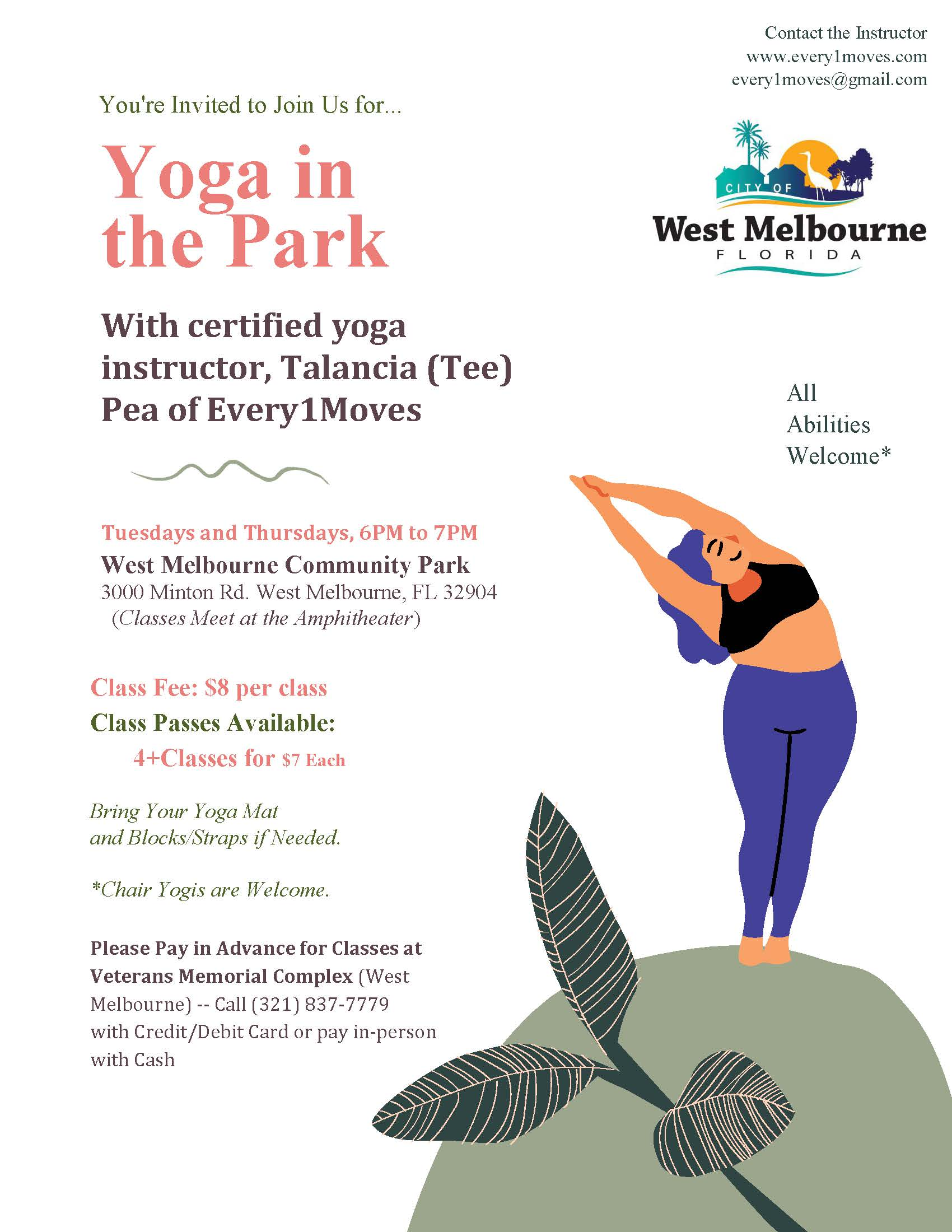 Yoga in the Park Flyer 2021